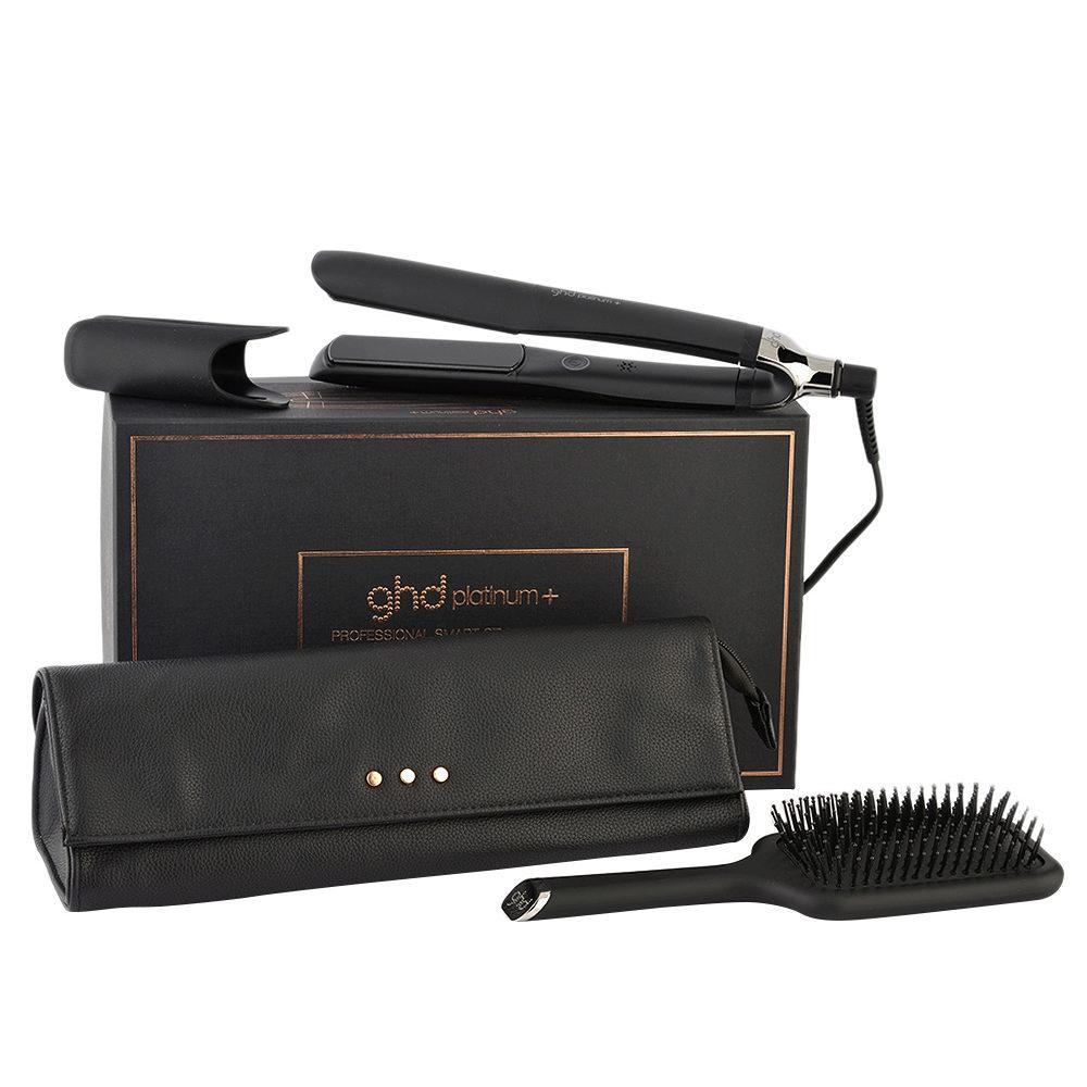 GHD Platinum + Professional Smart Styler Gift Set - Piastra con Pochette e Spazzola Piatta