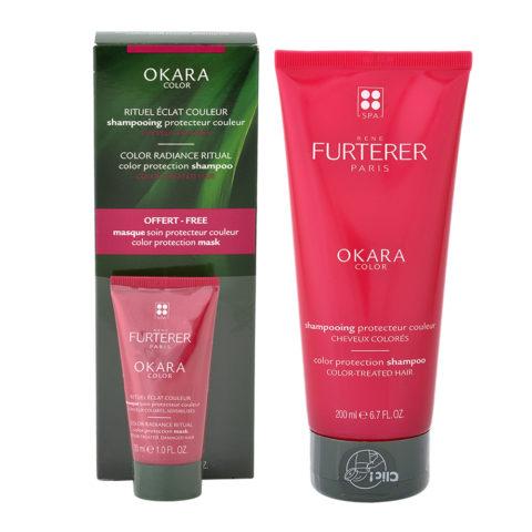 René Furterer Okara Color Protection Shampoo 200ml Mask 30ml omaggio - Shampoo Capelli Colorati e Maschera omaggio