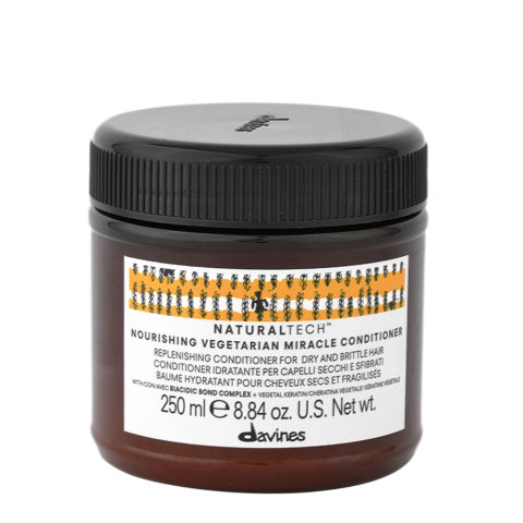Davines Naturaltech Nourishing Vegetarian Miracle Conditioner 250ml - Maschera ristrutturante