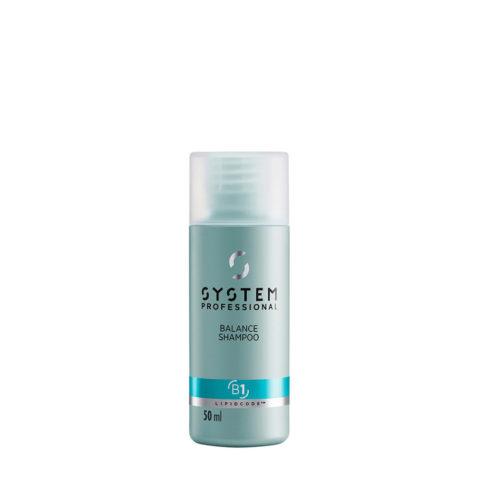 System Professional Balance Shampoo B1, 50ml - Shampoo Cute Sensibile
