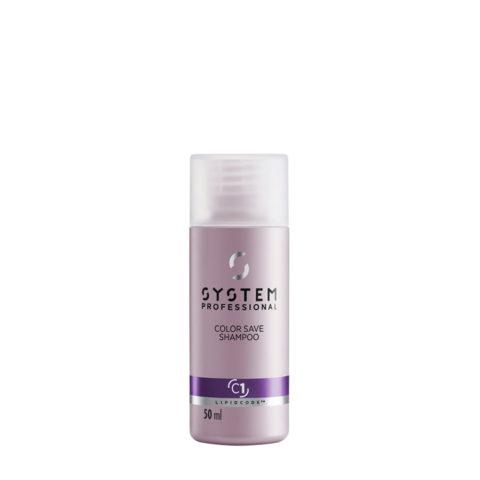 System Professional Color Save Shampoo C1, 50ml - Shampoo Capelli Colorati