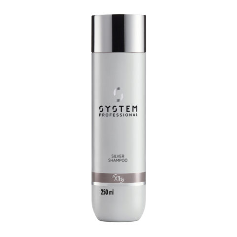 System Professional Silver Shampoo X1s, 250ml - Shampoo Antigiallo