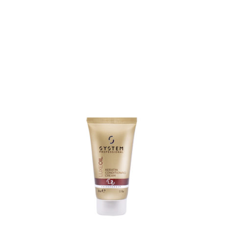 System Professional LuxeOil Conditioning Cream L2, 30ml - Balsamo con Cheratina