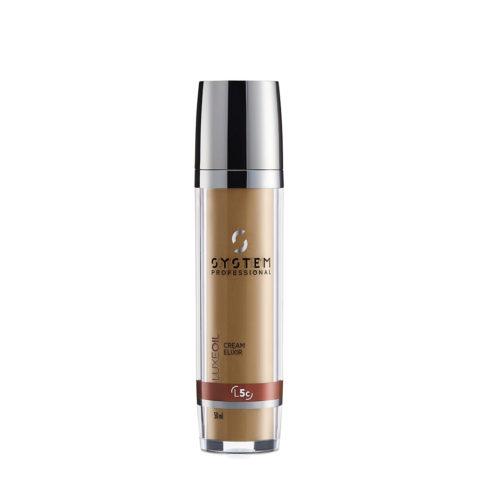 System Professional LuxeOil Cream Elixir L5c, 50ml - Crema Ristrutturante con Cheratina