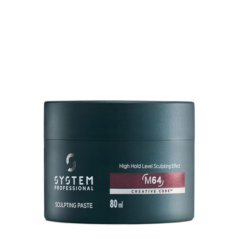 System Professional Man Sculpting Paste M64, 80ml - Cera tenuta forte