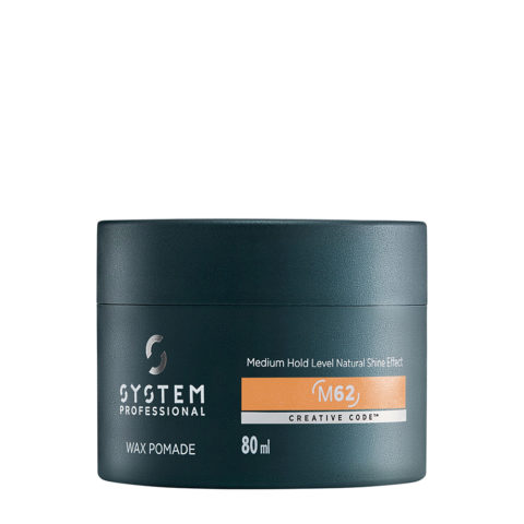 System Professional Man Wax Pomade M62, 80ml - Cera brillante tenuta media