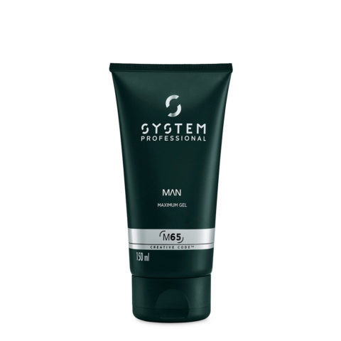 System Professional Man Maximum Gel M65, 150ml - Gel Brillante tenuta forte