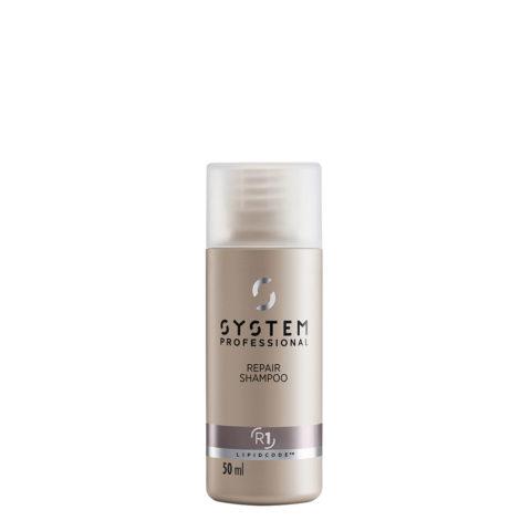 System Professional Repair Shampoo R1, 50ml - Shampoo Rinforzante Capelli Danneggiati