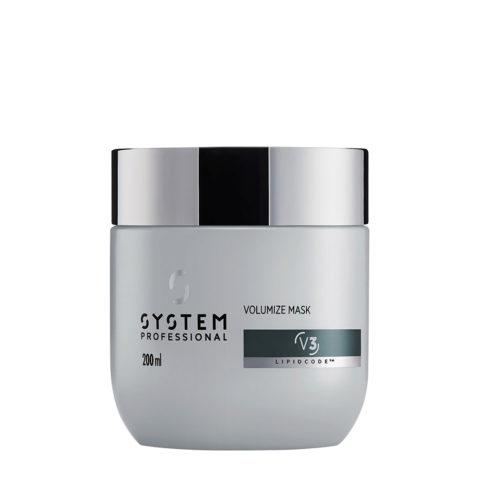 System Professional Volumize Mask V3, 200ml - Maschera Volumizzante