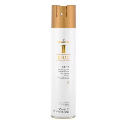 Medavita Idol Styling Satin Strong Shaper Dry Hairspray 5,  300ml - Lacca Gas forte