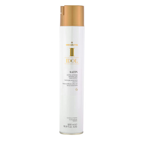 Medavita Idol Styling Satin Extra Strong Shaper Dry Hairspray 6,  500ml - Lacca Gas extra forte