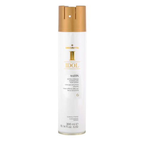 Medavita Idol Styling Satin Extra Strong Shaper Dry Hairspray 6,  300ml - Lacca Gas extra forte