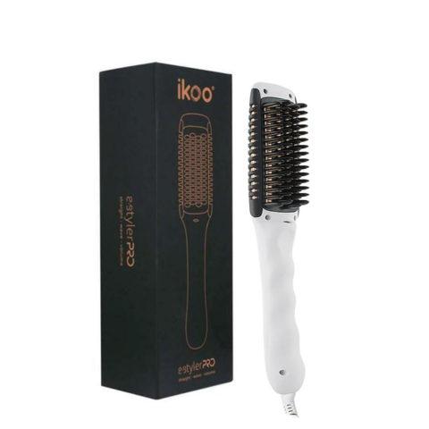Ikoo E - Styler Pro Platinum White - Spazzola riscaldate per onde e lisciare