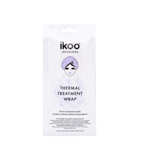 Ikoo Thermal treatment wrap Detox & balance mask 35g - Maschera in tessuto Purificante