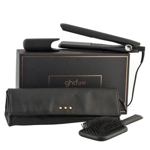GHD Gold Piastra con cofanetto Gift Set Pochette e Spazzola