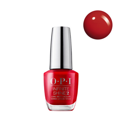 OPI Nail Lacquer Infinite Shine ISL N25 Big Apple Red 15ml - Smalto per Unghie Effetto Gel