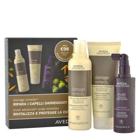 Aveda Damage Remedy Kit Ristrutturante con Shampoo Omaggio