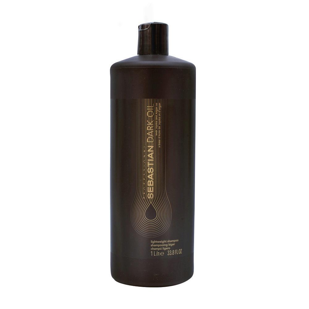 Sebastian Dark Oil Lightweight Shampoo 1000ml - Shampoo Idratante Leggero