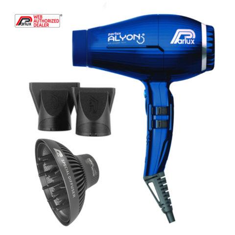 Parlux Alyon Air Ionizer Tech Eco Friendly Blu notte - Asciugacapelli Con Diffusore Magic Sense