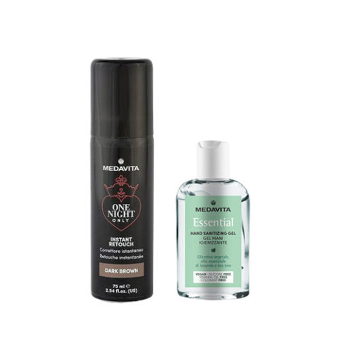 Medavita Instant Retouch Dark Brown 75ml + Gel mani igienizzante 100 ml