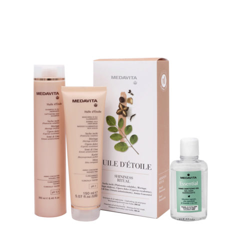 Medavita Rituale Huile d'Etoile Shampoo 250ml Maschera 150ml (Capelli Splendenti E Profumati) Gel mani igienizzante