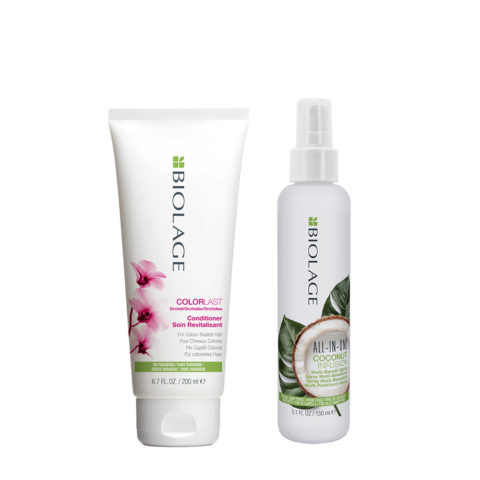 Biolage Colorlast Conditioner 200ml e All In One Coconut Spray 150ml - Balsamo e Spray Idratante