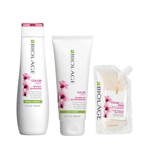 Biolage Colorlast Shampoo 250ml Conditioner 200ml Pack 100ml - capelli colorati
