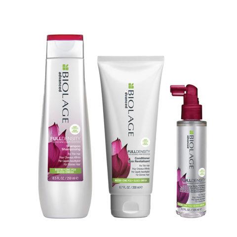 Biolage advanced FullDensity Shampoo 250ml Conditioner 200ml e Thickening spray 125ml - capelli fini