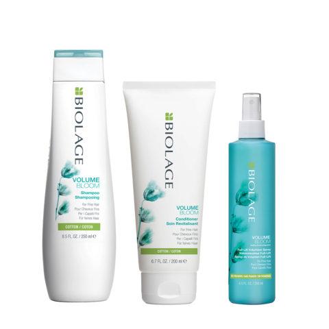Biolage Volumebloom Shampoo 250ml e Conditioner 200ml e Lift Volumizer Spray 250ml - Capelli fini