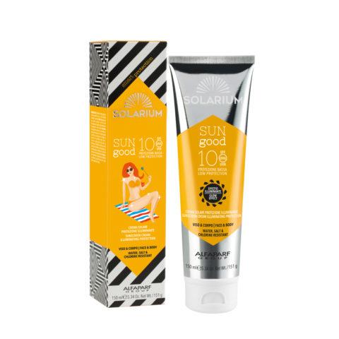 Solarium Sun Good Crema Solare Protezione Illuminante SPF10 Viso e Corpo 150ml