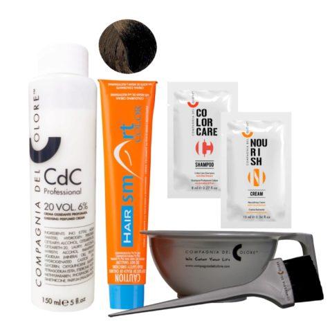 Hair Smart Color Kit Completo colore fai da te 4 Castano