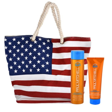Paul Mitchell Sun Kit Shampoo 300ml Aftersun 250ml Omaggio Borsa