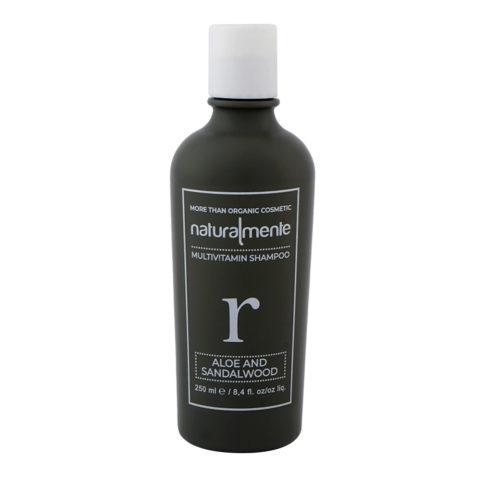 Naturalmente Multivitamin Shampoo Aloe & Sandalwood 250ml - Shampoo capelli danneggiati