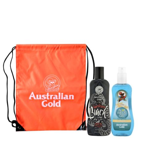 Australian Gold Kit Intensificatore e Gel Spray Aloe con Zaino Mare Omaggio
