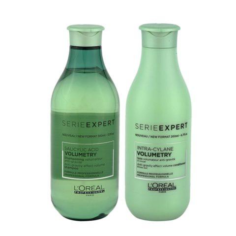 L'Oreal Volumetry Shampoo 300ml e Balsamo 200ml - Volumizzante Capelli fini e piatti