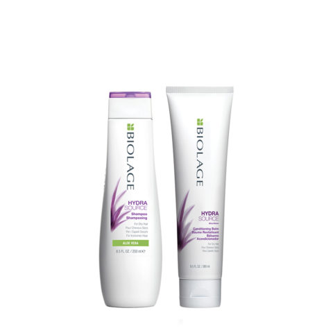 Biolage Hydrasource Shampoo 250ml Conditioning Balm 280ml  - Shampoo e Crema Idratanti
