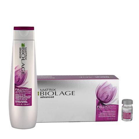 Biolage advanced FullDensity Shampoo 250ml Stemoxydina fiale 10x6ml - Shampoo e fiale capelli fini