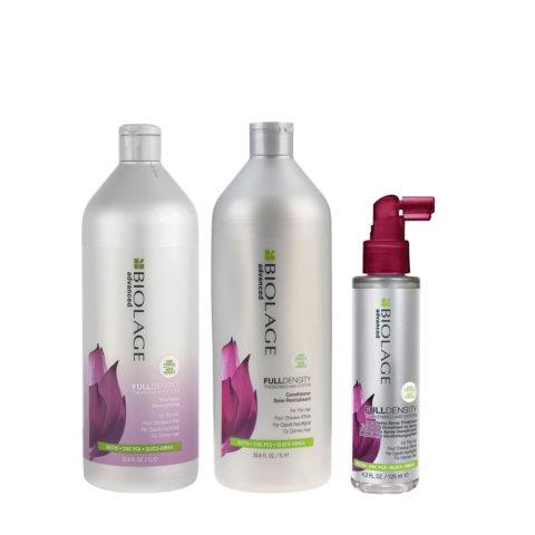 Biolage advanced FullDensity Shampoo 1000ml Conditioner 1000ml Spray 125ml - shampoo e balsamo capelli fini