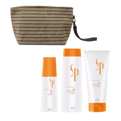 Wella SP After sun shampoo 250ml Balsamo 200ml Spray Protezione solare 125ml Pochette Omaggio