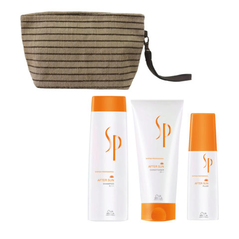 Wella SP After sun shampoo 250ml Balsamo 200ml Spray Siero doposole 125ml Pochette Omaggio