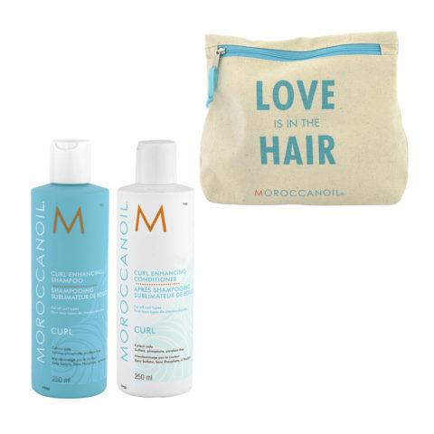 Moroccanoil Curl Shampoo 250ml e Balsamo 250ml con Pochette omaggio - capelli ricci