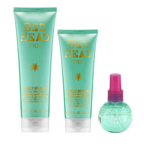 Tigi Bed Head Kit Solari Shampoo 250ml Balsamo 250ml Spray al sale 100ml