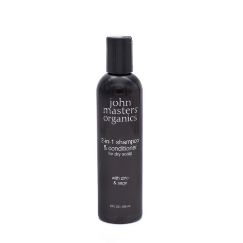 John Masters Organics 2 in 1 Shampoo & Conditioner for Dry Scalp 236ml - Shampoo 2 in 1 per cute secca