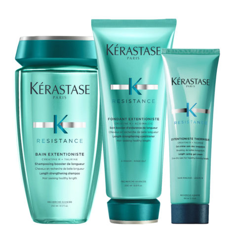 Kerastase Extentioniste Shampoo 250ml Balsamo 200ml Gel protezione termica 150ml