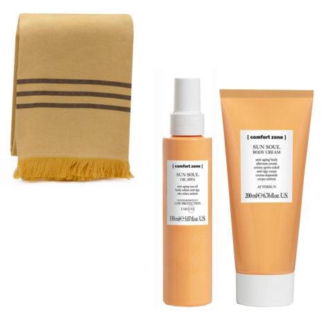 Comfort Zone Sun Soul Olio di protezione solare SPF 6, 150ml e Crema Corpo Doposole 200ml