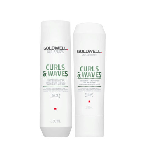 Goldwell Dualsenses Curly twist Hydrating Shampoo 250ml e Balsamo Idratante per capelli ricci 200ml