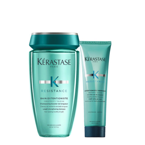 Kerastase Résistance Extentioniste Shampoo 250ml Gel crema protezione termica 150ml