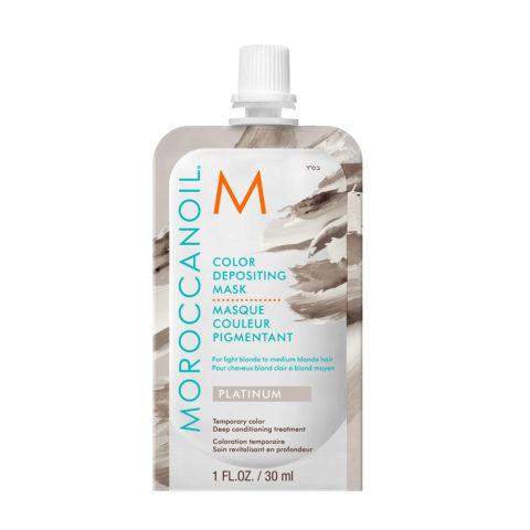 Moroccanoil Color Deposit Mask Platinum 30ml - Maschera colorata Platino