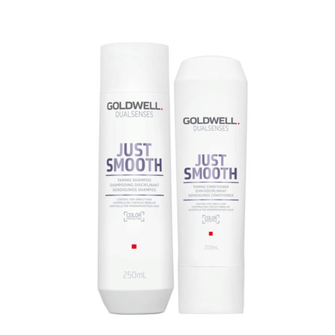 Goldwell Dualsenses Just Smooth Taming Shampoo 250ml e Balsamo 200ml - Duo anticrespo