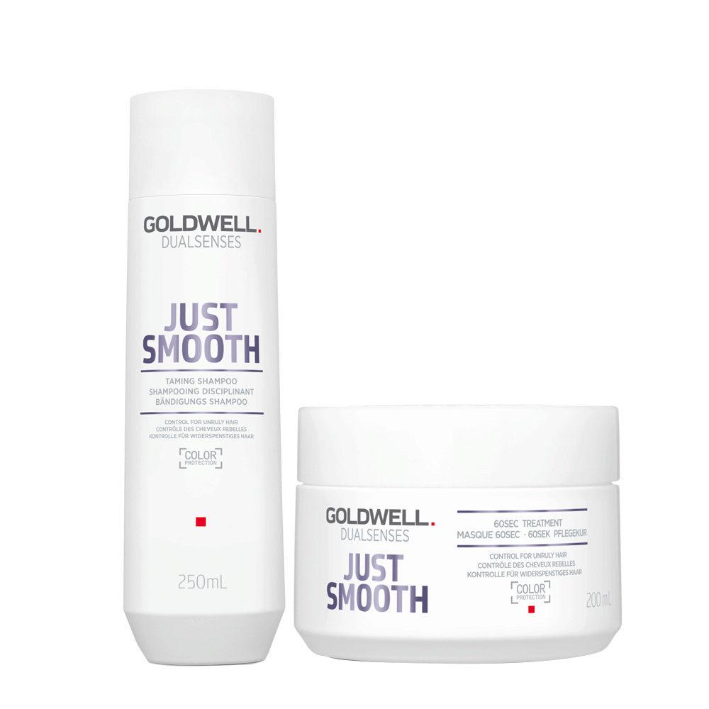 Goldwell Dualsenses Just Smooth Taming Shampoo 250ml e Maschera 200ml - Duo anticrespo